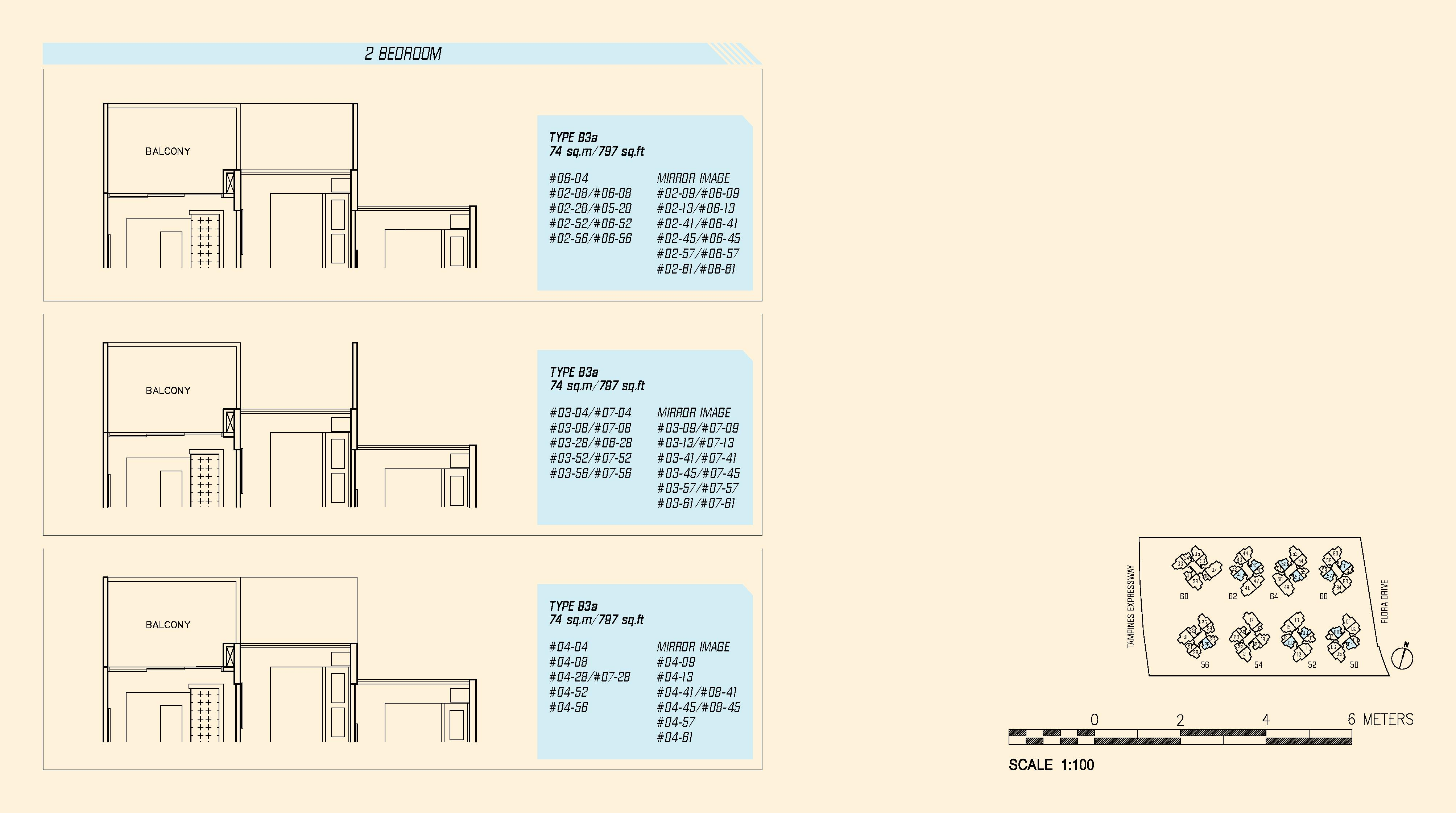 Parc Olympia 2 Bedroom Floor Plans Type B3a