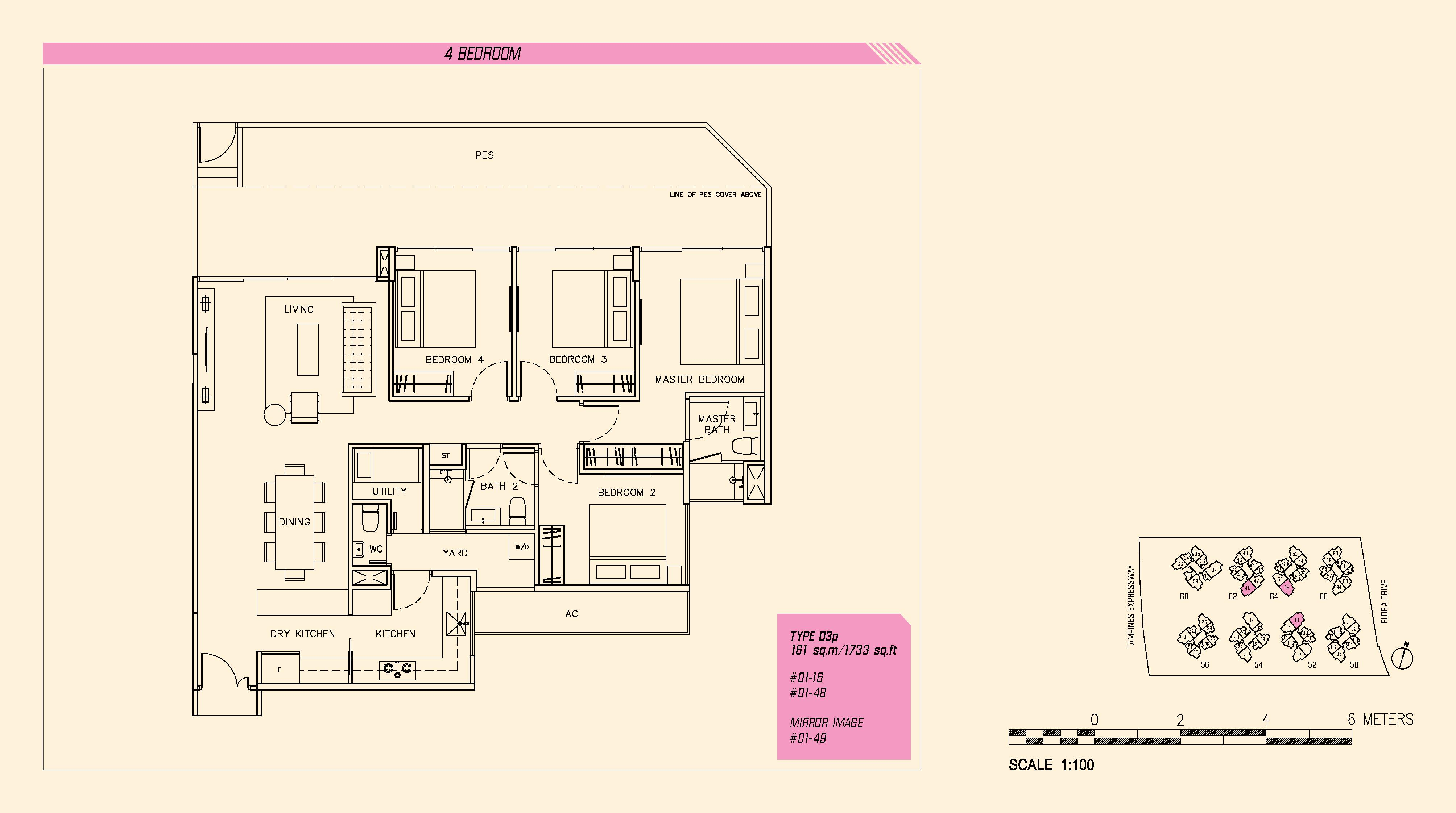 Parc Olympia 4 Bedroom Floor Plans Type D3p