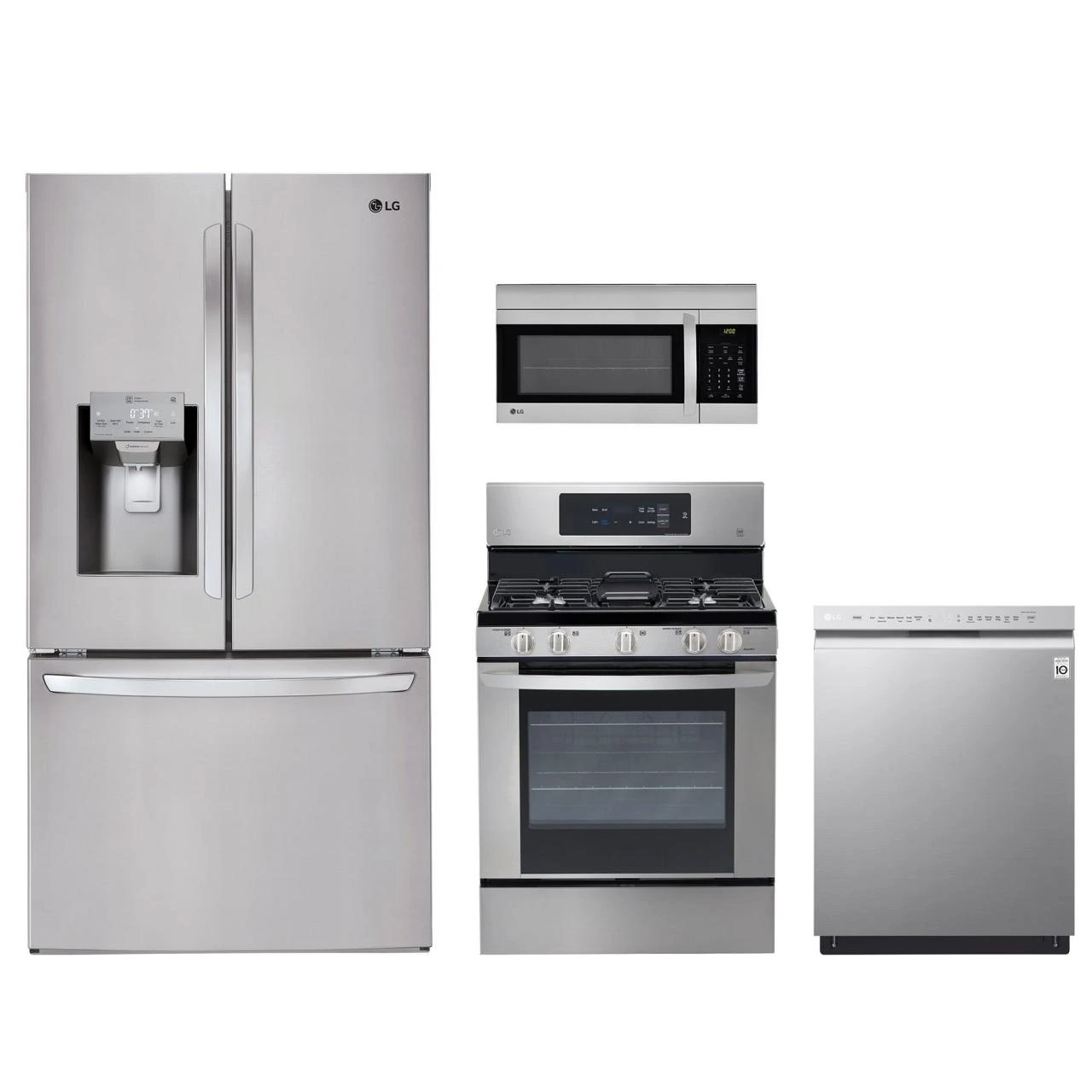 4 piece stainless steel kitchen package square table lg lgkitlmv1762st home