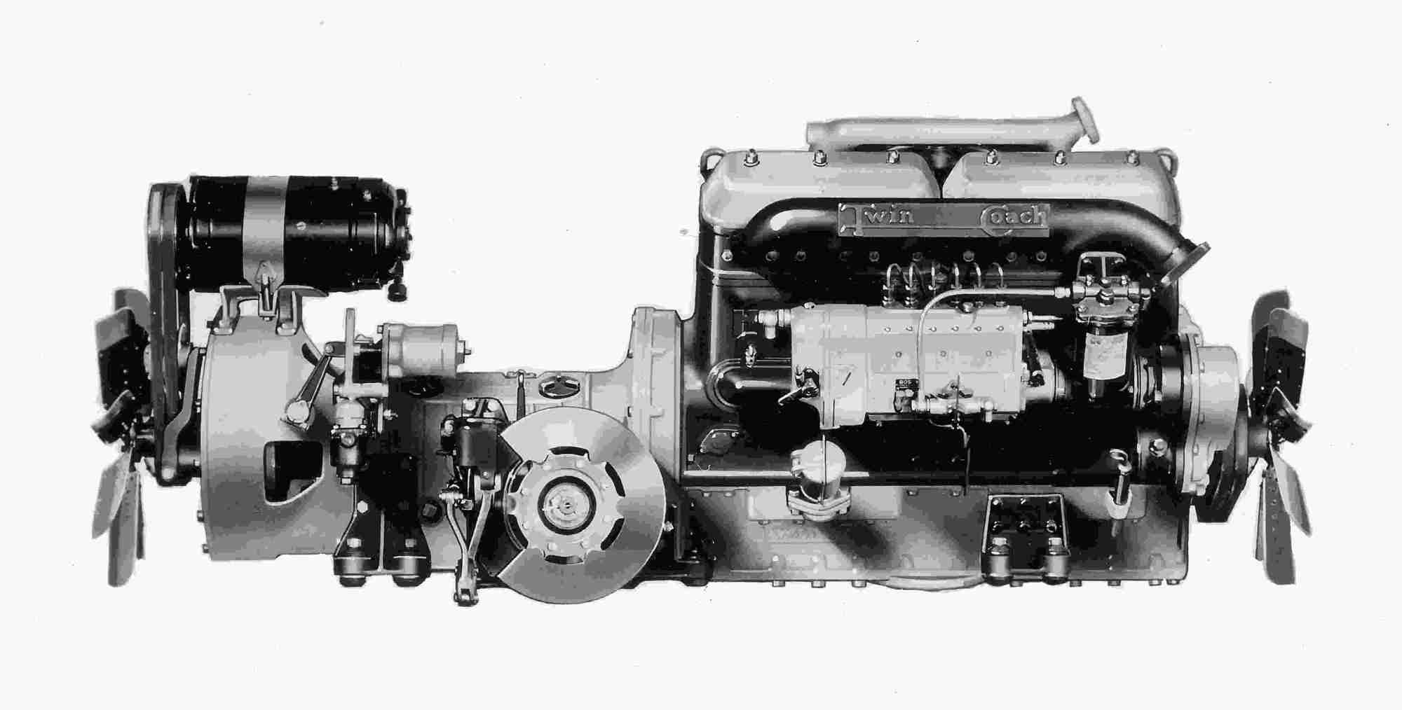 hight resolution of  1935 twin coach diesel engine by hercules