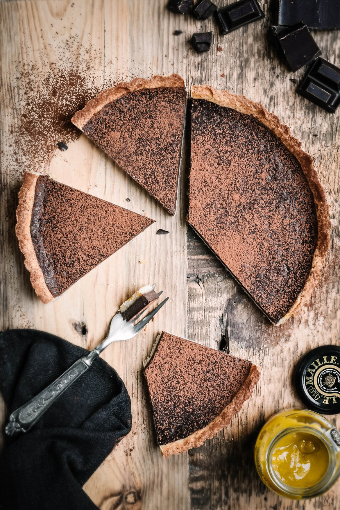Dark Chocolate Honey Mustard Tart (1)