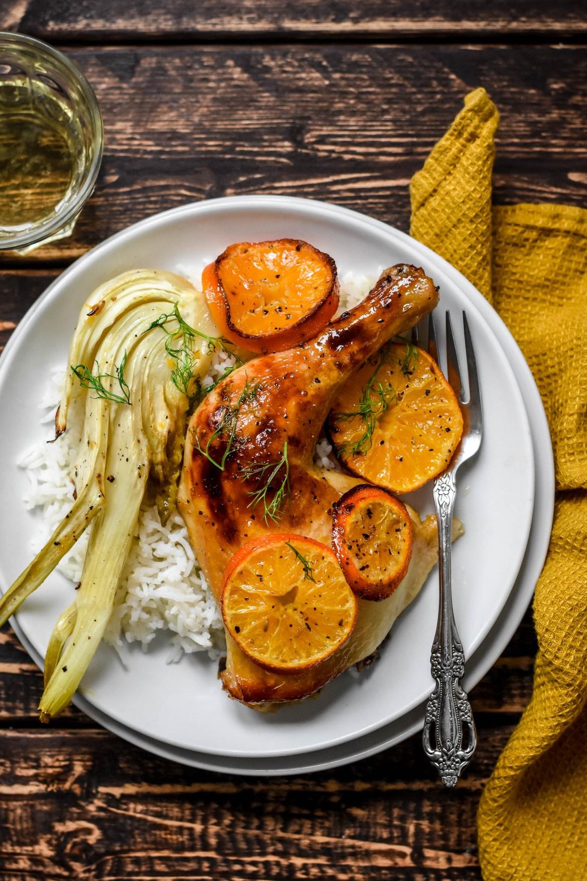 clementine roast chicken