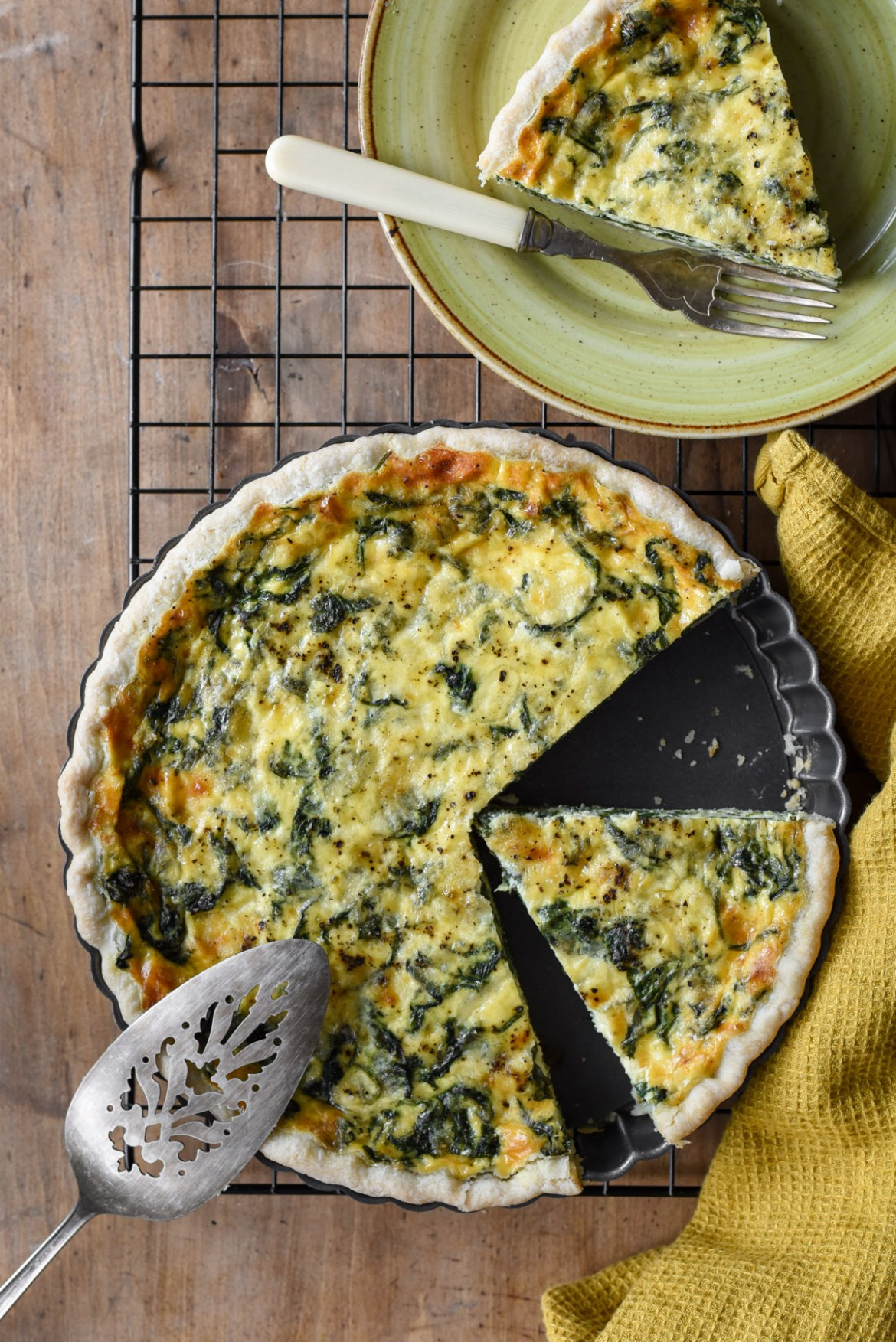 Spinach And Cheese Quiche Pardon Your French