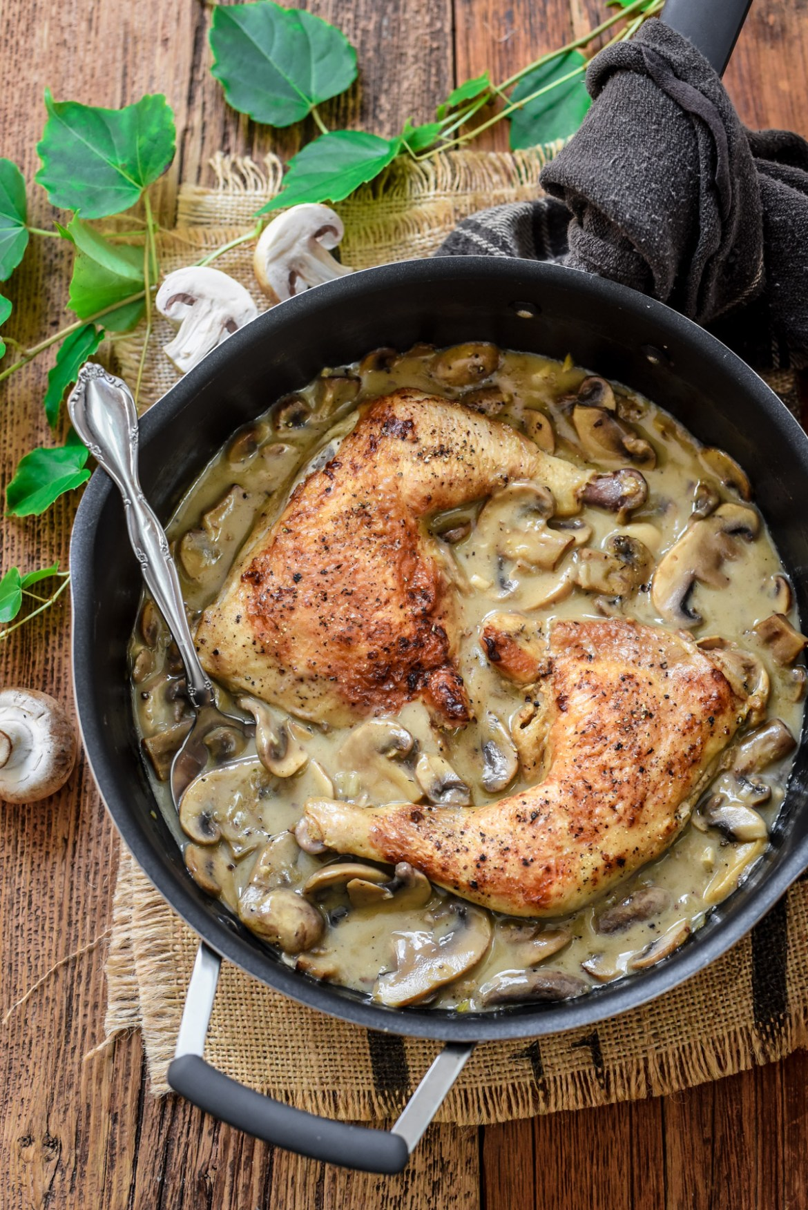 Chicken In Creamy Mushroom Sauce Poulet A La Forestiere Pardon Your French