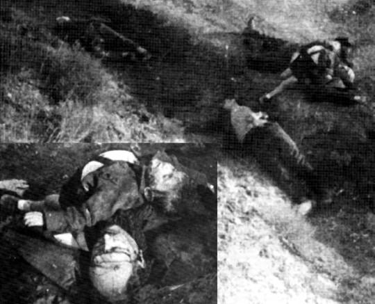 Οι νεκροί, Γρηγόριος Κοντοβουνιώτης, το παιδί του και οι δυο συνοδοί του