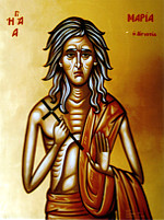 Η οσία Μαρία η Αιγυπτία, χωρίς μαστούς
