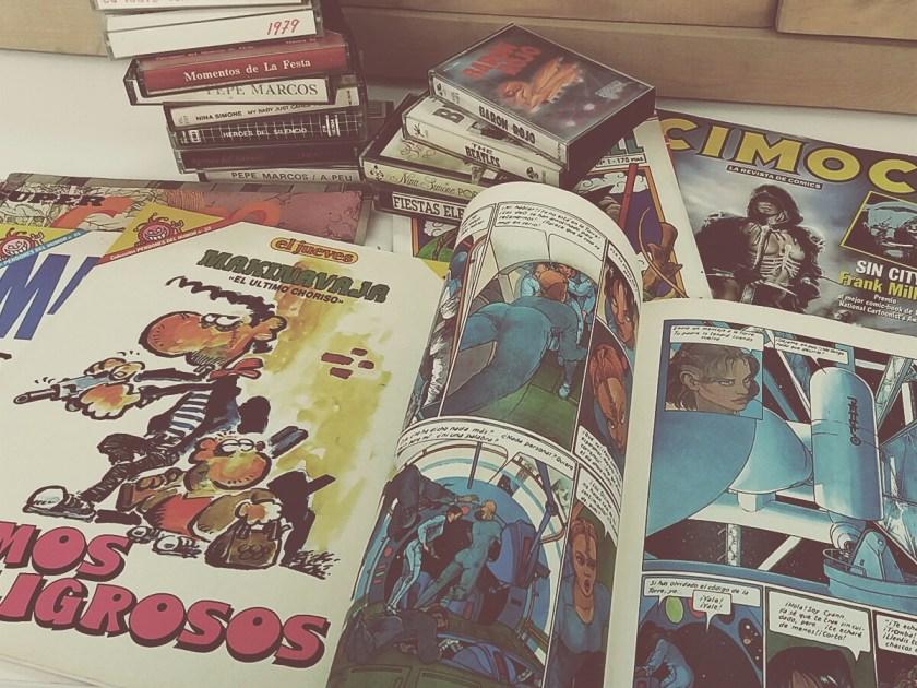 Comics y cassettes