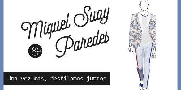 Paredes desfila con Miquel Suay en la pasarela 080 de barcelona
