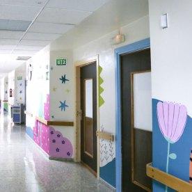 Intervención artística en el Hospital General de Elche junto a Believe in Art y Paredes