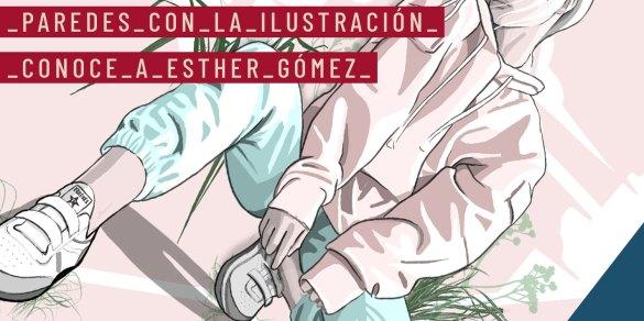 Paredes con la ilustración española Esther Gómez