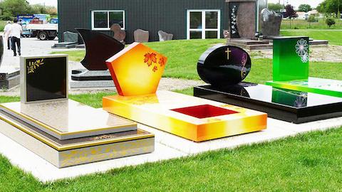 Cementerios de colores tumbas con diseos personalizados