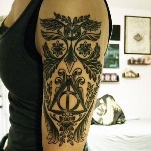 Inspírate En Los Diseños De 16 Tatuajes De Harry Potter Paredrocom