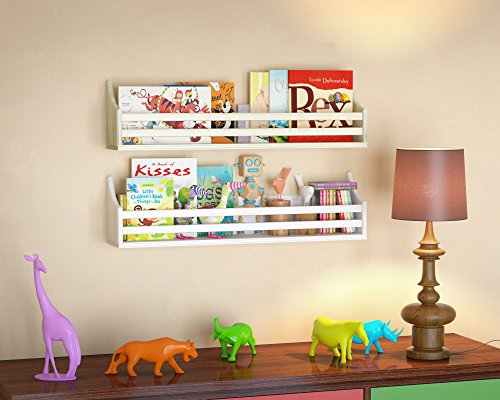 Childrens-Wood-Wall-Shelf-Multi-Use-30-Inch-Bookcase-Toy-Game-Storage-Display-Organizer-Traditional-Country-Molding-Style-Ships-Fully-Assembled-0-1