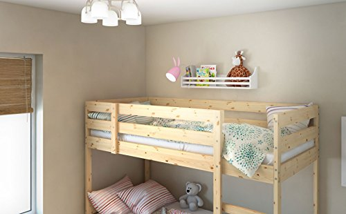 Childrens-Wood-Wall-Shelf-Multi-Use-30-Inch-Bookcase-Toy-Game-Storage-Display-Organizer-Traditional-Country-Molding-Style-Ships-Fully-Assembled-0-2