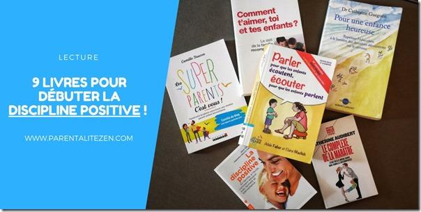 9 livres pour débuter la Discipline Positive