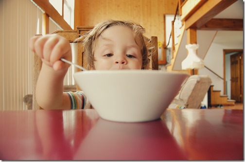 La matinée d'un enfant serein