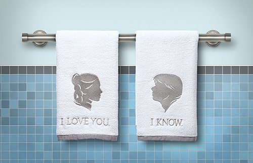 Star Wars Han and Leia Bathroom Hand Towels