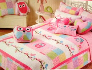 TWIN Quilt Owls Bedding