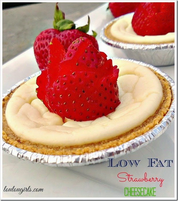 Low Fat Strawberry Cheesecake