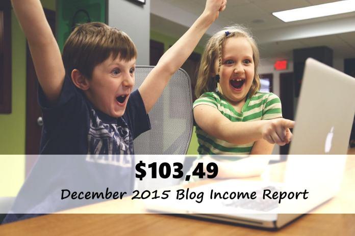 December 2015 Blog Income Report – 103.49 Dollars