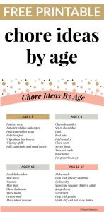 Appropriate Chore Ideas For Kids