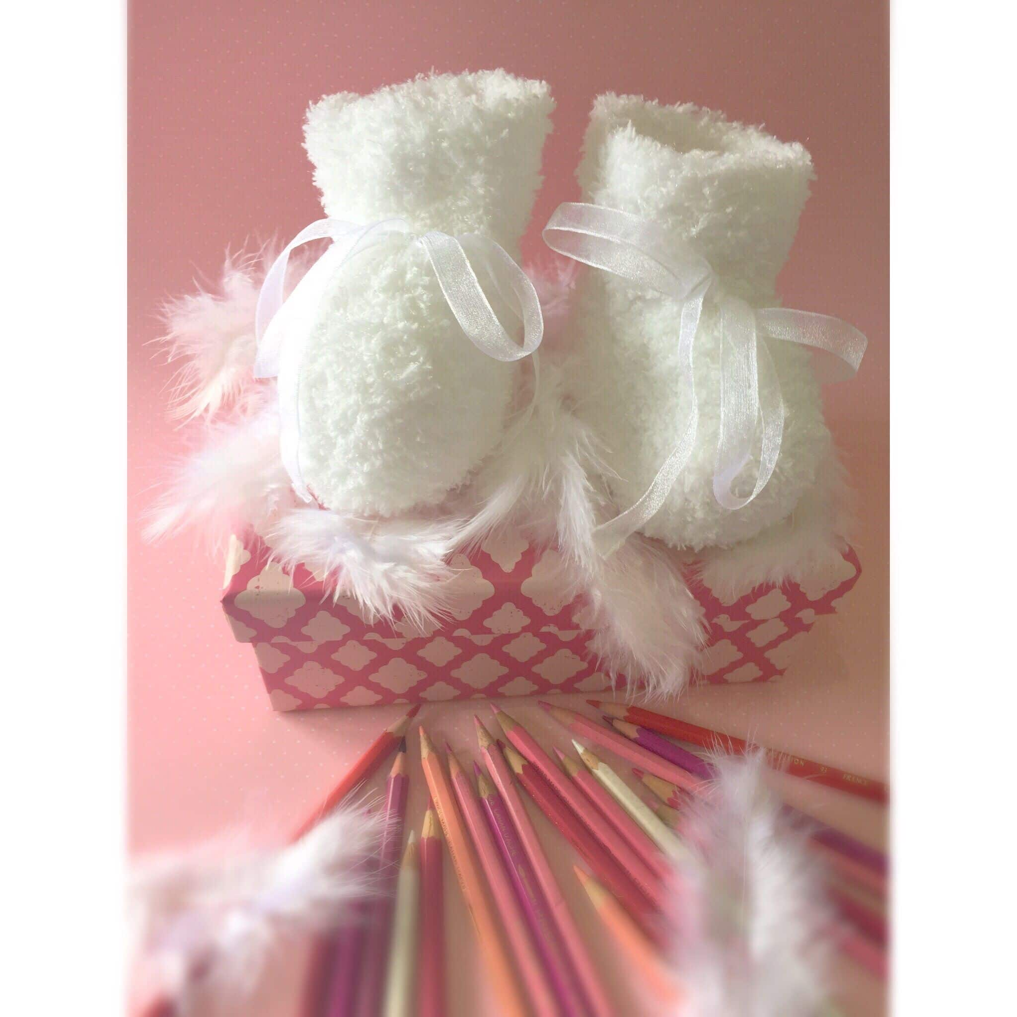 baby slippers on etsy