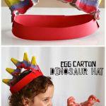 Egg Carton Dinosaur Hat Craft