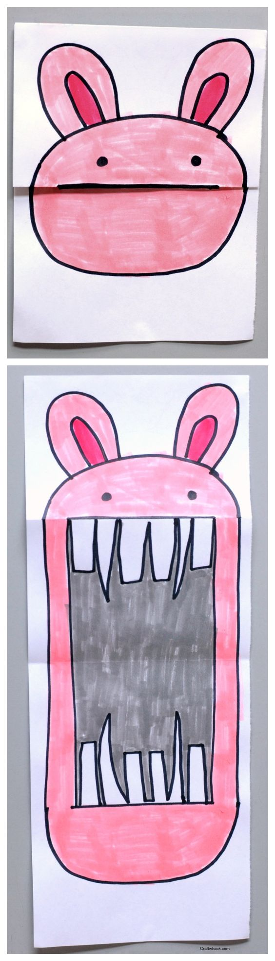 Surprise Ferocious Beings Paper Project for Toddlers