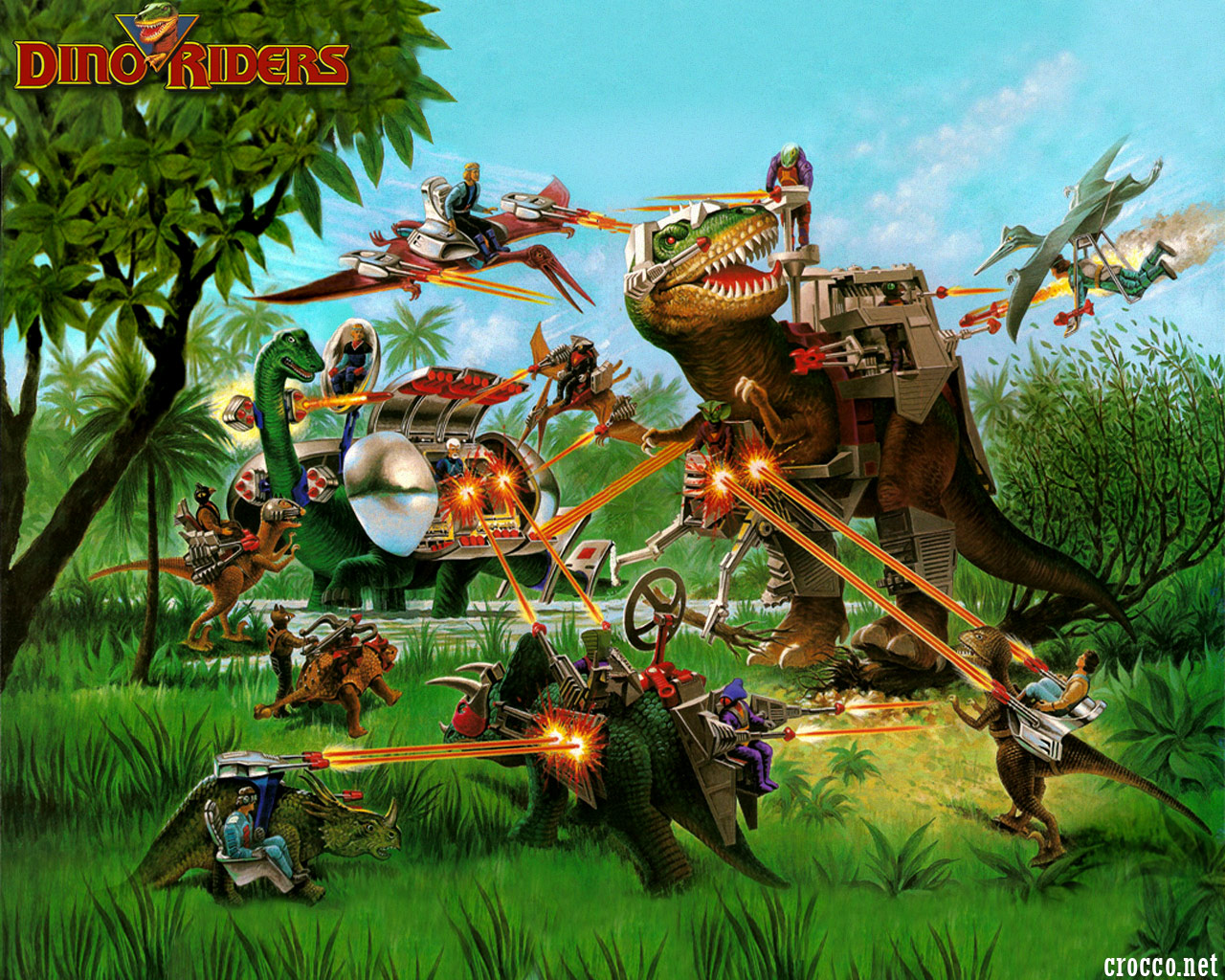 Dino riders les dinosaures ont re disparu guide du - Dinosaure dessin anime disney ...