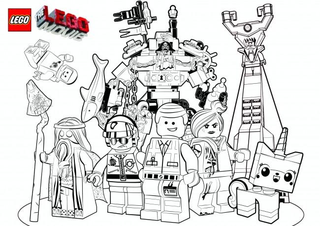 Coloriage à imprimer Lego Movie