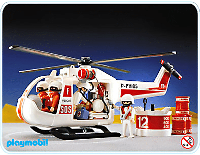 Playmobil - Hélicoptère sauvetage 1987