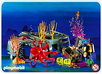 Playmobil - Plongeur et pieuvre 1997