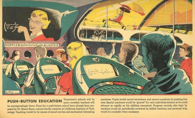 1958 : l'éducation en appuyant sur des boutons