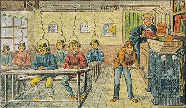 1900 : les livres transmis électriquement au cerveau