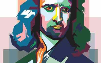 Oui, Isaac Newton aussi peut avoir un portrait cool comme Steve Jobs