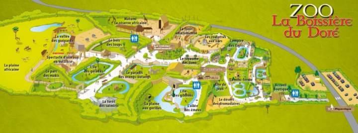 Plan du Zoo de La Boissière-du-Doré
