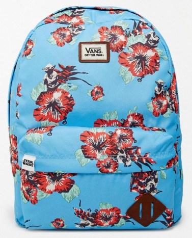 sac vans yoda fleurs