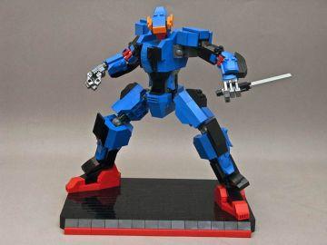 Squelette Robot Mecha Lego Gundam
