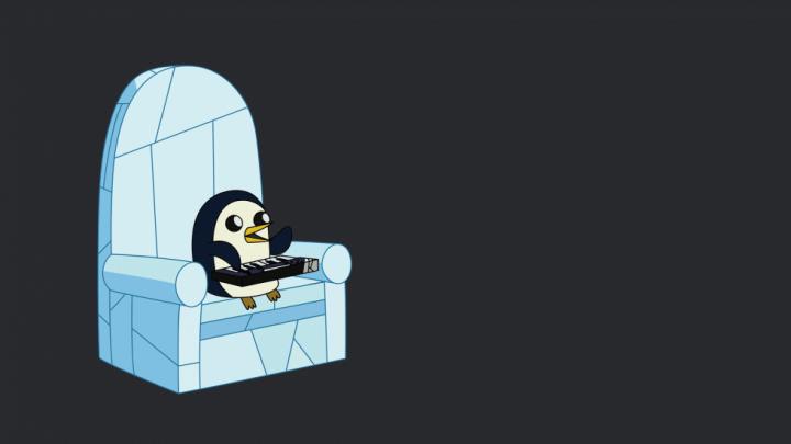 Fond d'écran : Adventure Time - Gunter le Pingouin