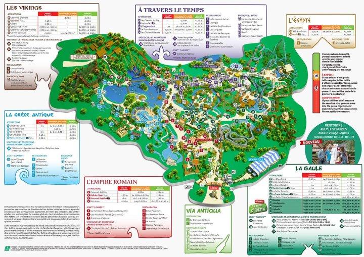 Plan du Parc Astérix (2014)
