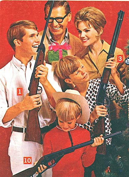 1972 Christmas ad for Daisy rifles