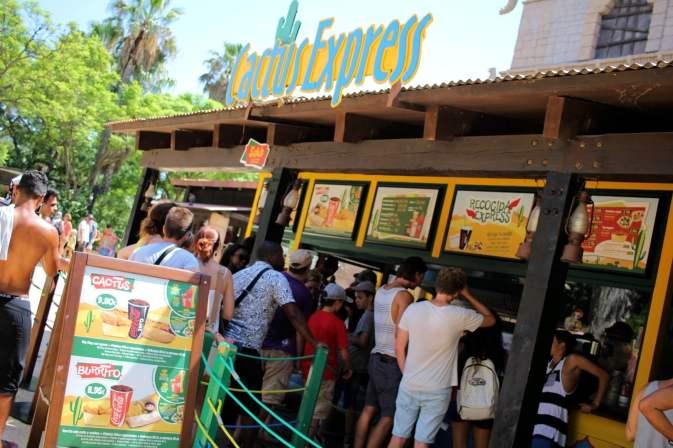 Cactus Express, un fast-food de la zone Far West