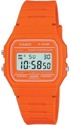 Casio F91W Orange