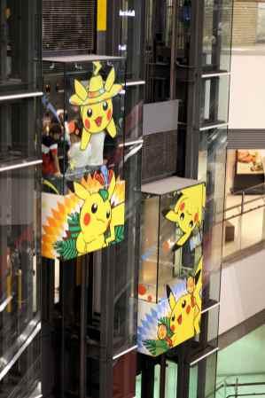 Ascenseurs Pikachu dans Queen's Square Yokohama