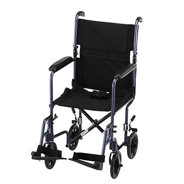 transport wheelchair nova counter chairs with arms 19 inch lightweight chair by 329b