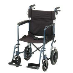 Transport Wheelchair Nova Outdoor Bar Chairs Target 19 Inch Lightweight Chair With Hand Brakes By 330b