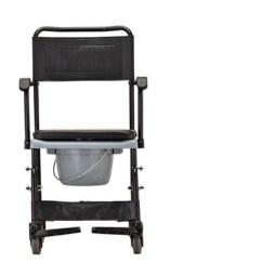 Chair With Wheels Rush Seat Dining Chairs Commode Transport By Nova 8805