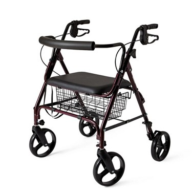 bariatric transport chair 500 lbs poppy high review 400 lb capacity 4 wheel medline rollator walker with seat mds86800xw