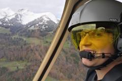 Vol en héli avec Sébastien
