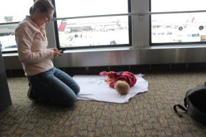 layover with a baby